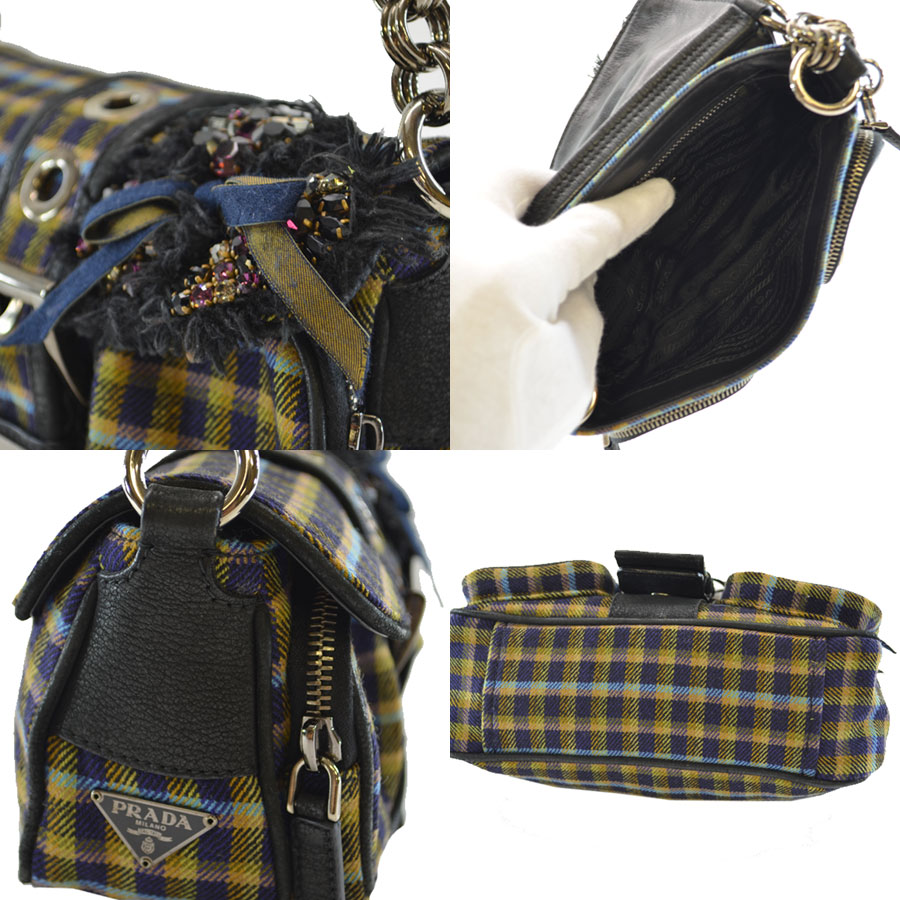 prada brown wool handbag. Black Bedroom Furniture Sets. Home Design Ideas