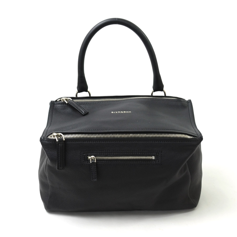 e5a78465200d  beautiful article  It is Givenchy  GIVENCHY  Pandora handbag shoulder bag  2Way bag lady black x silver leather  used