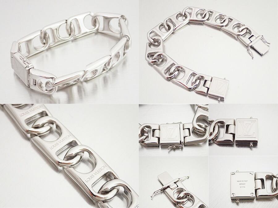 brandvalue rakuten global market louis vuitton louis vuitton mp2031 neo chain bracelet silver. Black Bedroom Furniture Sets. Home Design Ideas