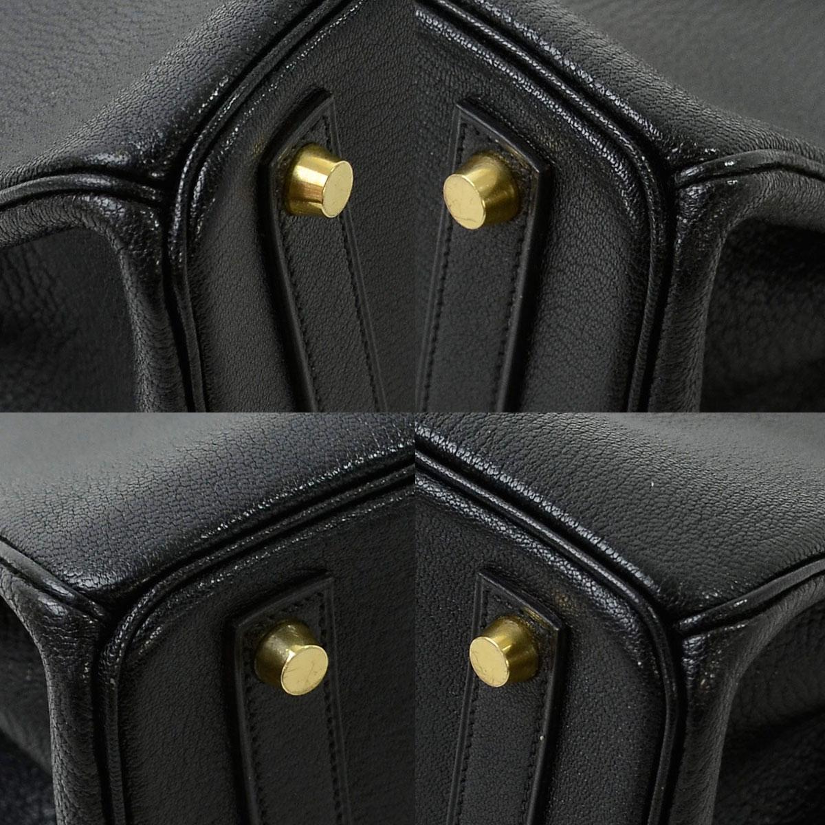3fc209006374 【おすすめ】 【中古】エルメス【HERMES】 オータクロア32 バッグ ハンドバッグ レディース メンズ ブラックxゴールド金具 コロマンデルレザー
