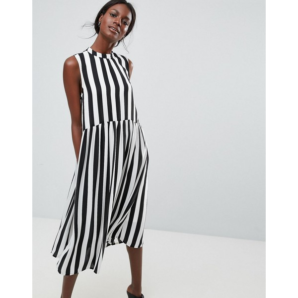 af5e4381d25db ワイエーエス レディース ワンピース トップス Y.A.S High Neck Stripe Midi Dress Multi ワイエーエス  レディース トップス ワンピース Multi 全商品無料サイズ交換