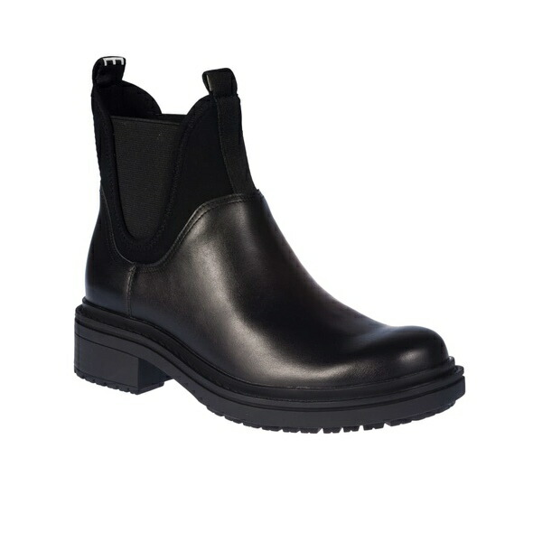 New Womens SOLE Black Elsie Leather Boots Ankle Elasticated