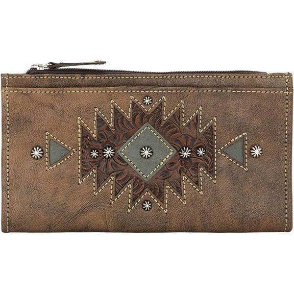 8612655a4826 アメリカンウェスト レディース 財布 アクセサリー Foldover Wallet Distressed Charcoal  Brown/Chestnut Brown/Turquoise アメリカンウェスト レディース ...
