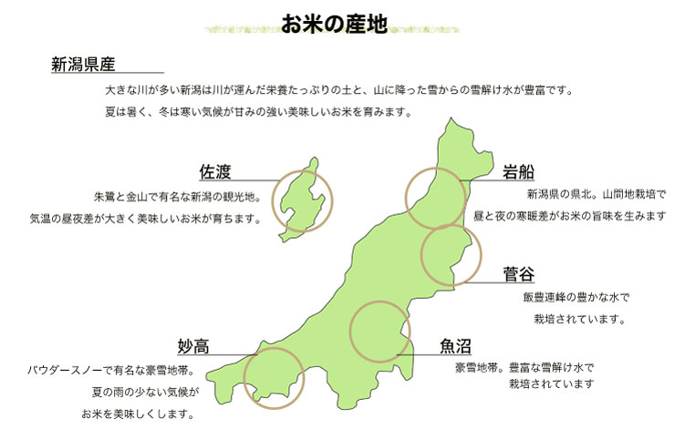 お米の産地