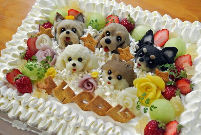Atelier Waf Fruit Decorated Cake M Dog