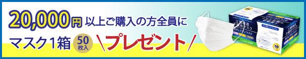 マスクプレゼント2万円以上購入