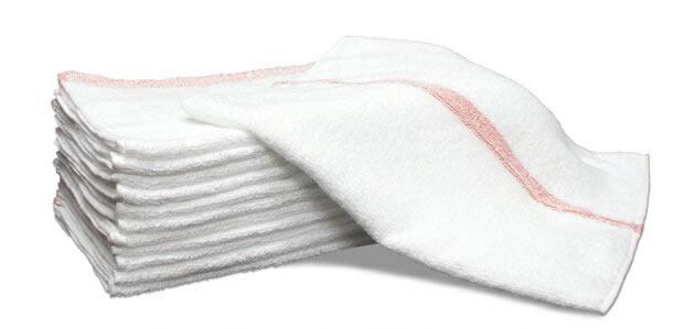 240匁 赤線タオル 12枚セット 業務用タオル