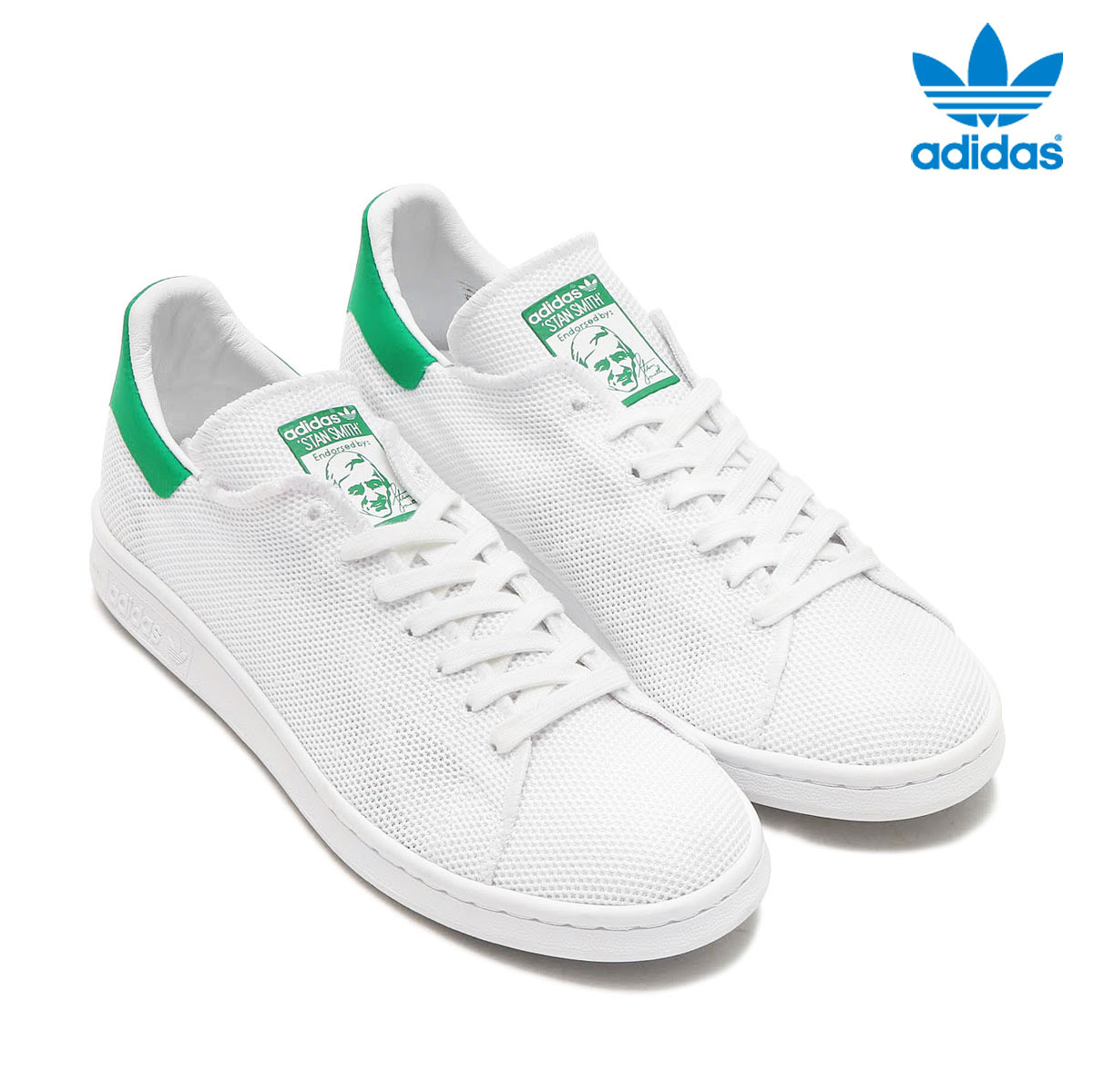 more photos bdad1 fe532 adidas Originals STAN SMITH (Adidas originals Stan Smith) (Running  White/Running White/Green) 17SS-I