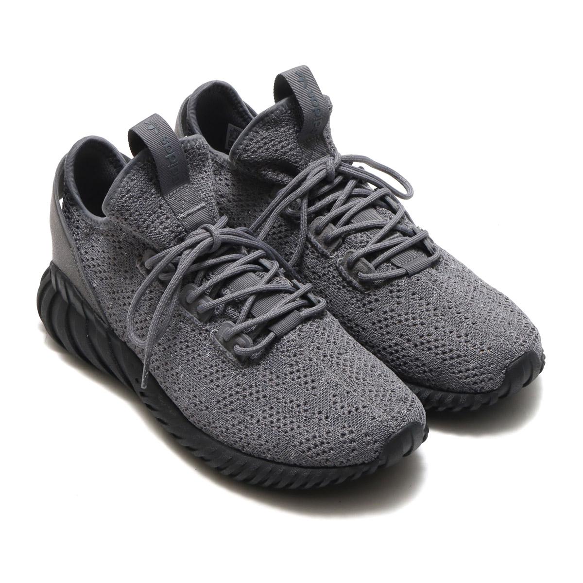 new arrival 28c3f 568fa adidas Originals TUBULAR DOOM SOCK PK (アディダスオリジナルスチューブラードゥームソック PK) Grey  Four/Core Black/Running White 17FW-I