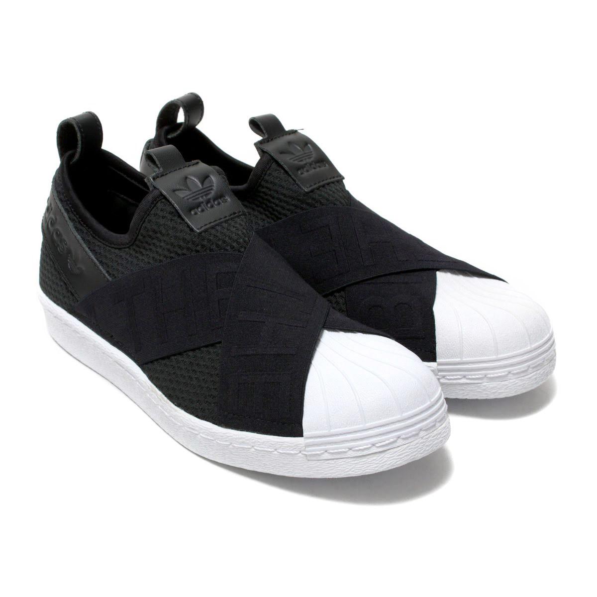 (アディダス オリジナルス スーパースタースリッポン W) Core Black18SS-I Running White/ Running White/ adidas Originals SUPERSTAR SLIPON W