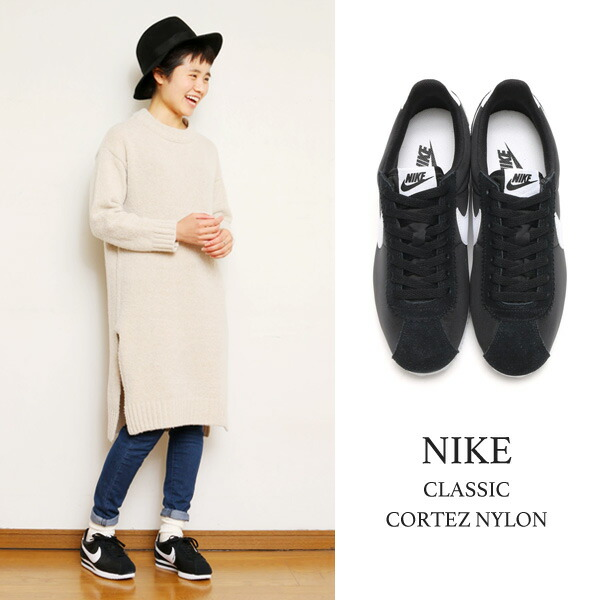 e57746600614 nike cortez womens black nylon cheap
