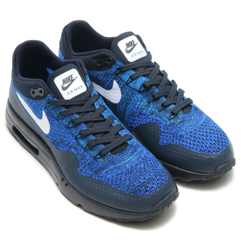 Mens Nike Air Max 1 Ultra Flyknit Shoes Royal BlueGrey TopDeals