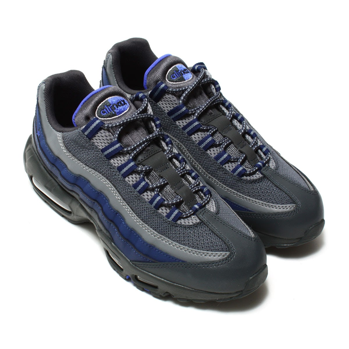 NIKE AIR MAX 95 ESSENTIAL (ナイキ エア マックス 95 エッセンシャル) (ANTHRACITE/PARAMOUNT  BLUE-BINARY BLUE-COOL GREY-WOLF GREY)