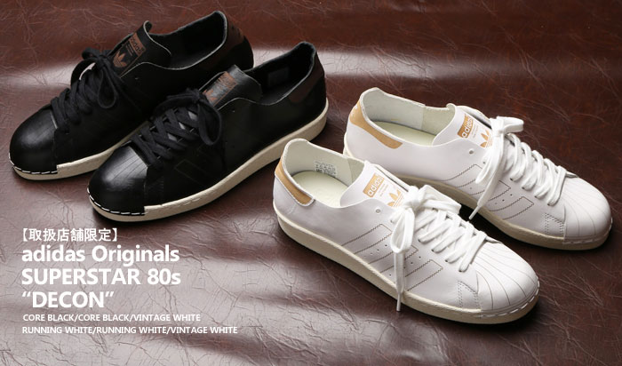 adidas Originals SUPERSTAR 80s DECON (Adidas originals superstar 80s DECON) CORE BLACKCORE BLACKVINTAGE WHITE 17FW S