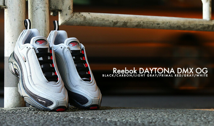 8ae2b1f0d0a  10 13(土)発売 お取り寄せ商品  Reebok 2018FW  Reebok DAYTONA DMX OG (リーボック デイトナ DMX OG)  BLACK CARBON LIGHT GRAY PRIMAL RED GRAY WHITE