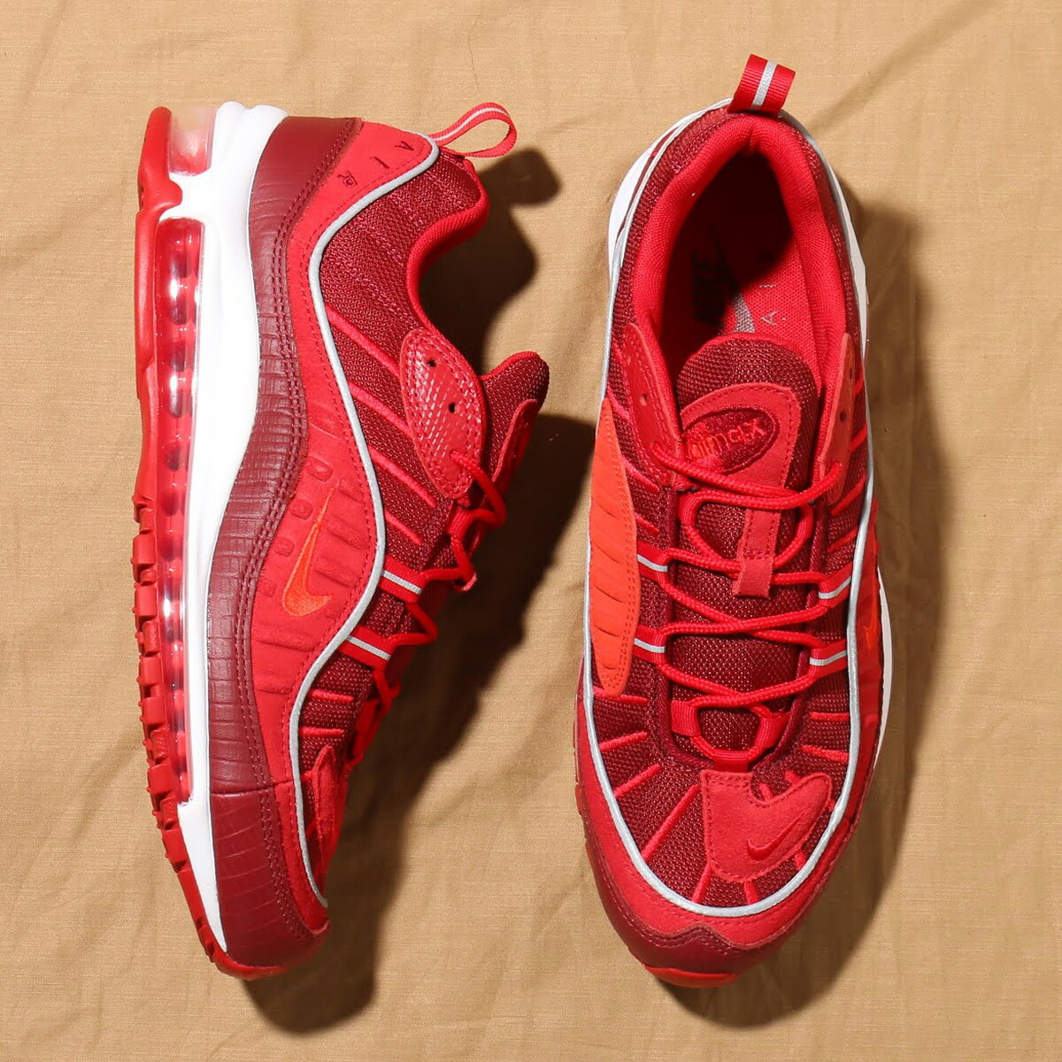 ebf309104a170 NIKE AIR MAX 98 SE (ナイキ エア マックス 98 SE) TEAM RED/HABANERO RED-GYM RED-WHITE  【メンズ スニーカー】