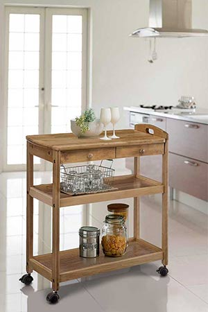 antique kitchen trolley - Kitchen Side Tables