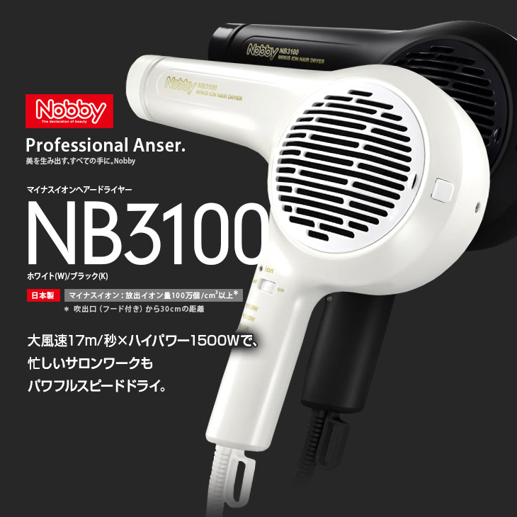 Nobby(ノビー)NB3100 マイナスイオンドライヤー