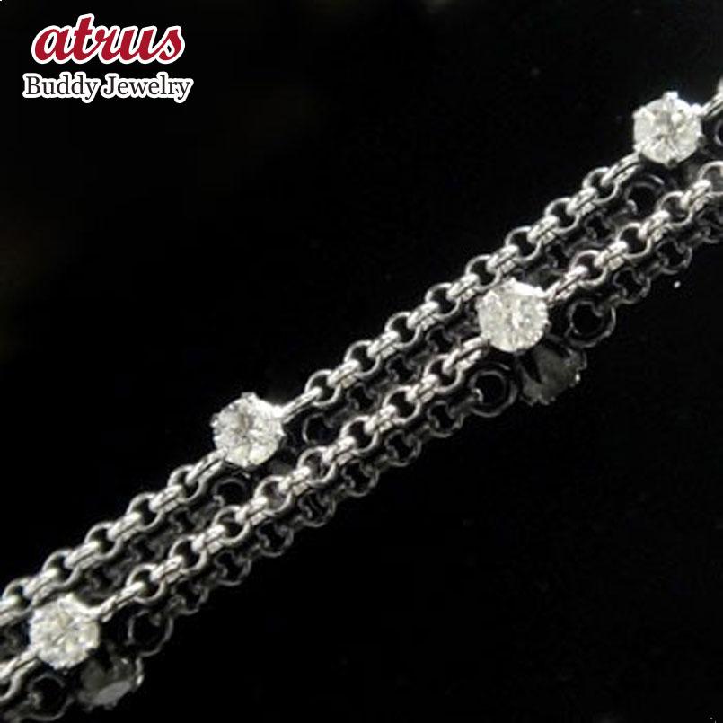 ダイヤモンドアンクレット:ホワイトゴールドK18:フルエタニティー:ダイヤモンド0.70ct