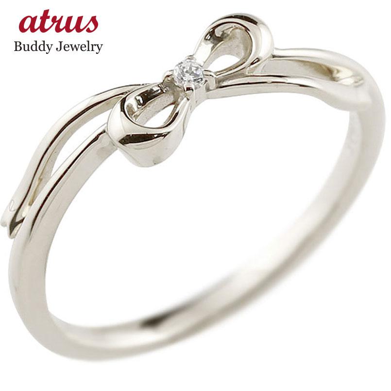 ダイヤモンド ゴールドリング ピンキーリング ダイヤ k18 極細 華奢 アンティーク ストレート 指輪