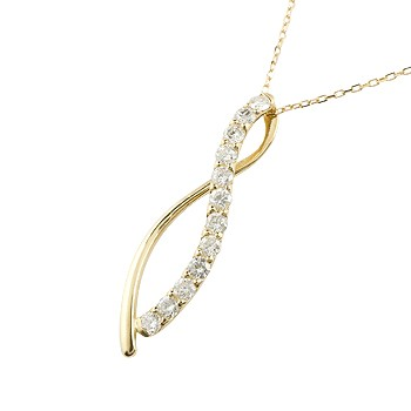 ダイヤモンド ネックレス ペンダント ダイヤ 0.30ct イエローゴールドk18 18金 チェーン 人気
