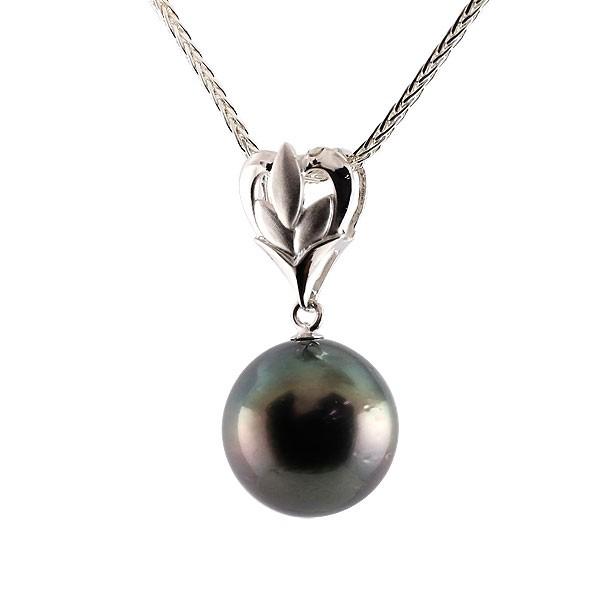 黒真珠 パール ネックレス シルバー ペンダント チェーン 人気 6月誕生石 レディース