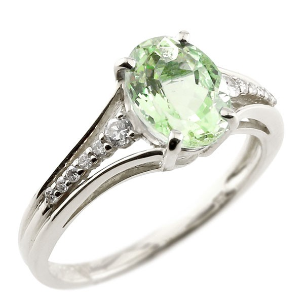 一粒 ペリドット ホワイトゴールドk18 大粒 指輪 ダイヤモンド 8月誕生石 18金