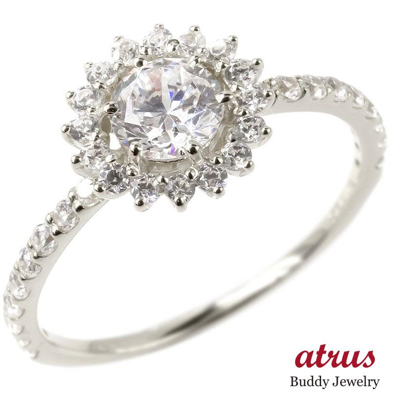 シルバー リング レディース 婚約指輪 安い エンゲージリング 指輪 ピンキーリング 女性 人気