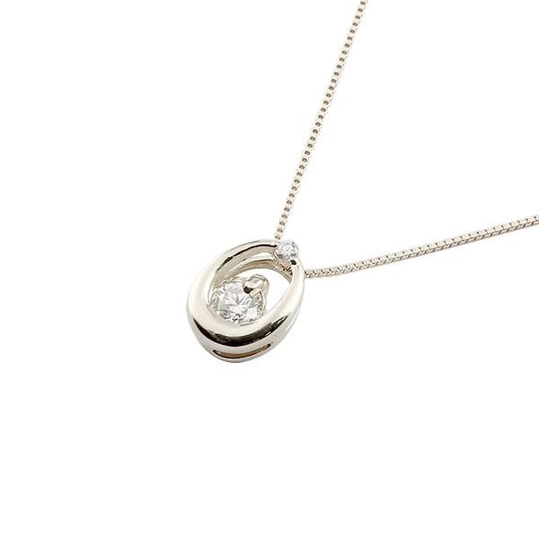 ダイヤモンド ドロップ型 ネックレス プラチナ ペンダント チェーン 人気 ダイヤ