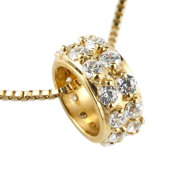 ネックレス ダイヤモンド  ダイヤ イエローゴールド ペンダント チェーン 人気