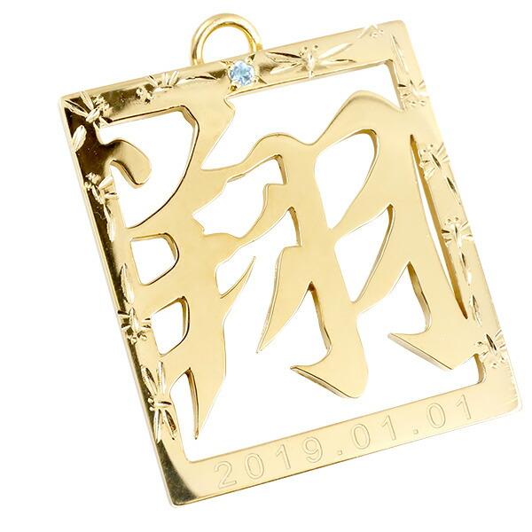 名前プレート イエローゴールドk10 選べる彫り 誕生石 生年月日刻印 額付き フレーム 宝石 名前札 節句 命名額 命名プレート 名前キーホルダー ストラップ