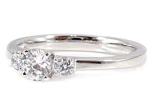 PT900指輪ダイヤモンド0.46ct