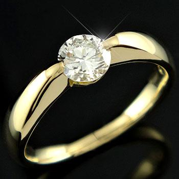 大粒ダイヤモンド,k18リング