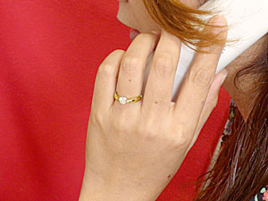 k18,一粒ダイヤモンド0.50ct,指輪