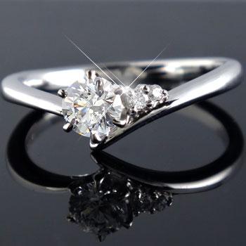 鑑定書付き VS1クラス プラチナ ダイヤモンド 婚約指輪 エンゲージリング リング 一粒 大粒 ダイヤ ストレート