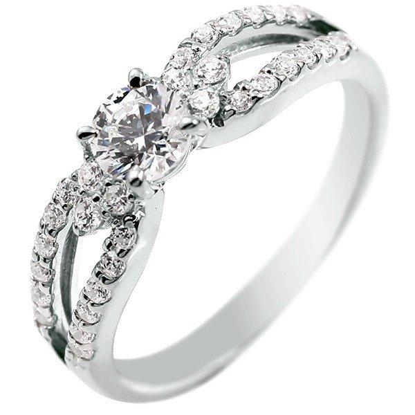 ダイヤモンド プラチナ リング 一粒 大粒 エンゲージリング 婚約指輪