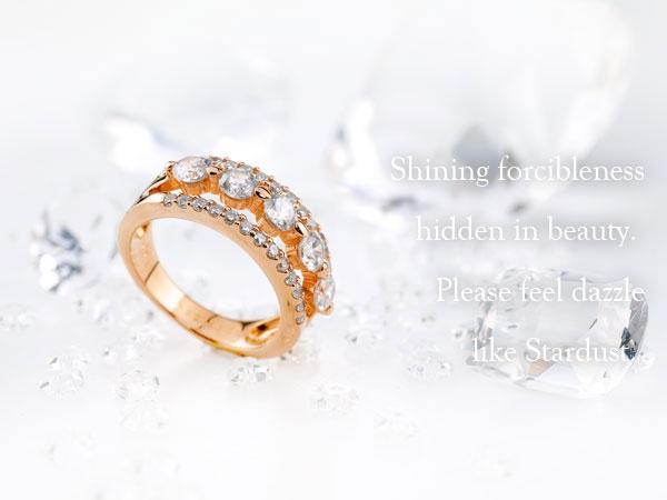 ダイヤモンド リング ダイヤ エンゲージリング 婚約指輪 ピンクゴールドk18