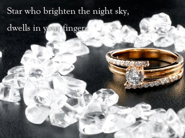 鑑定書付 ダイヤモンド リング ダイヤ エンゲージリング 婚約指輪 ピンクゴールドk18