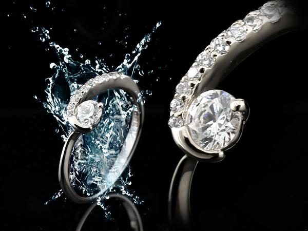 ダイヤモンド プラチナリング ダイヤ エンゲージリング 婚約指輪