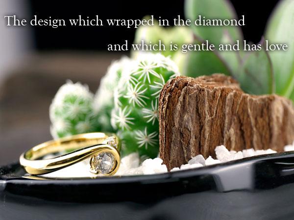 ダイヤモンド リング ダイヤ エンゲージリング 婚約指輪 イエローゴールドk18