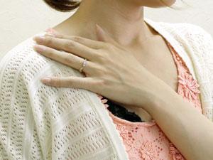 プラチナ ダイヤモンド リング ピンキーリング 指輪 イエローゴールドk18