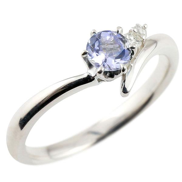 婚約指輪 エンゲージリング タンザナイト プラチナリング ダイヤモンド 指輪 ピンキーリング 一粒 大粒 pt900 レディース 12月誕生石