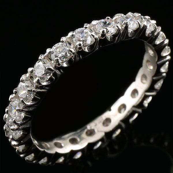 フルエタニティリング ダイヤモンド 1.00ct プラチナリング ダイヤモンドリング ダイヤ 指輪 ストレート pt900