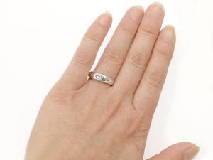 指輪大粒ダイヤモンドK18WG