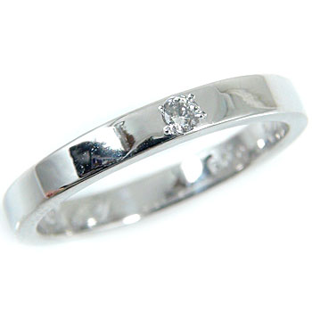 【送料無料】ダイヤモンドリング0.03ctプラチナ900指輪 小指用にも【工房直販】