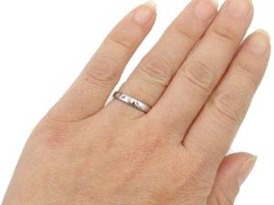 【送料無料】ダイヤモンドリングホワイトゴールドK18指輪 小指用にも【工房直販】