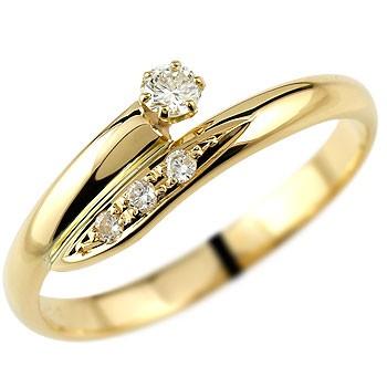 【工房直販】特別価格:指輪:ダイヤモンドピンキーリング:イエローゴールドk18:ダイヤモンド0.11ct:K18【送料無料】
