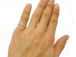 【送料無料:特別価格】ダイヤモンド:リング:指輪:プラチナ900:一粒ダイヤモンド:ダイヤモンド:0.10ct:K18WG