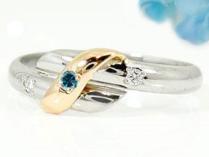指輪,天然ダイヤモンド,ブルーダイヤモンド
