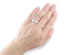 【送料無料】ダイヤモンドリングプラチナ900指輪 小指用にも【工房直販】
